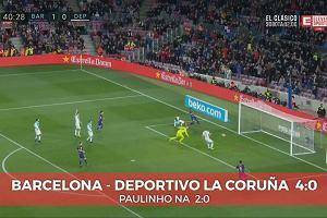 La Liga. FC Barcelona - Deportivo La Coruna 4:0. Gol Paulinho na 2:0 [ELEVEN SPORTS]