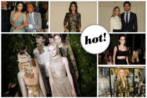 Valentino Haute Couture: W pierwszym rz�dzie elegancka Kim Kardashian, rockowa Emma Watson i dziewcz�ca Olivia Palermo z m�em [ZDJ�CIA]