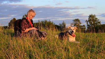 Na zdjęciu: Taida i jej pies Tosia