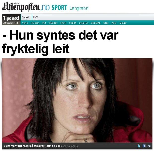 Screen z dziennika 'Aftenposten'