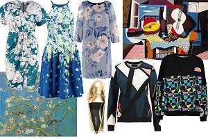 Malarskie inspiracje w modzie - ubrania i dodatki ze sztuką w tle