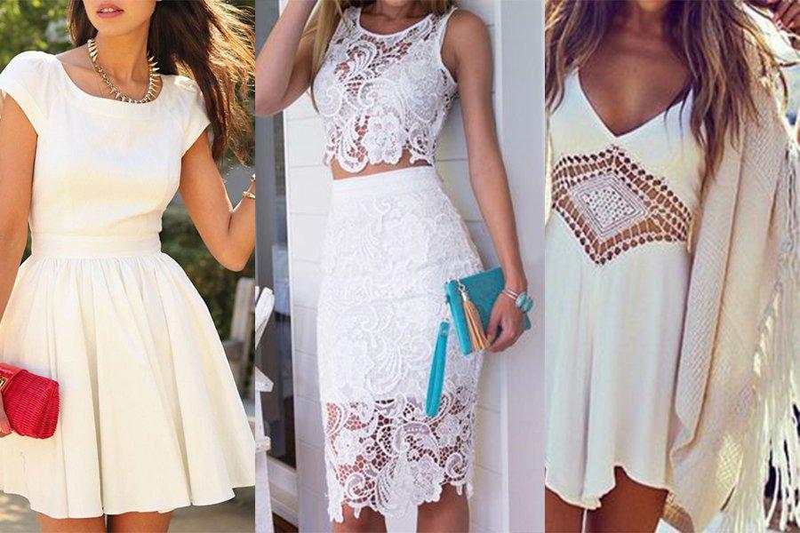 45ef35c471 Jakie dodatki do białej sukienki - modne i oryginalne propozycje