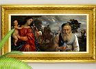 Idealne polskie malowidło: kresowy dworek, sceny batalistyczne, święci i  Żyd z pieniążkiem