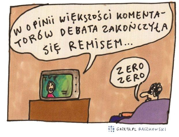 Raczkowski o debacie -  - rys. Marek Raczkowski