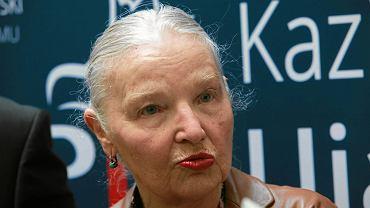 Jadwiga Staniszkis podczas konferencji prasowej kandydata na europosla Kazimierza Ujazdowskiego