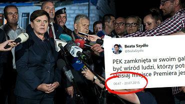 Beata Szydło w miejscowości Rytel