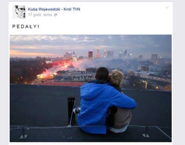 Facebook zablokowa� konto Wojewódzkiemu. Za jedno s�owo, którym podpisa� zdj�cie z 11 listopada