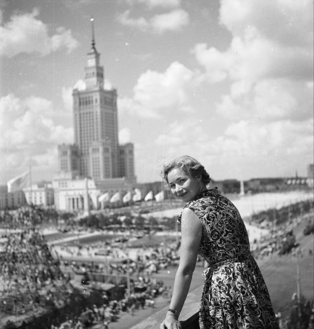 Pałac Kultury i Nauki, sierpień 1955 roku.