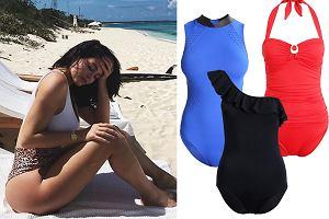 Kolaż, wyszczuplające kostiumy kąpielowe/Materiały partnera/www.instagram.com/kyliejenner