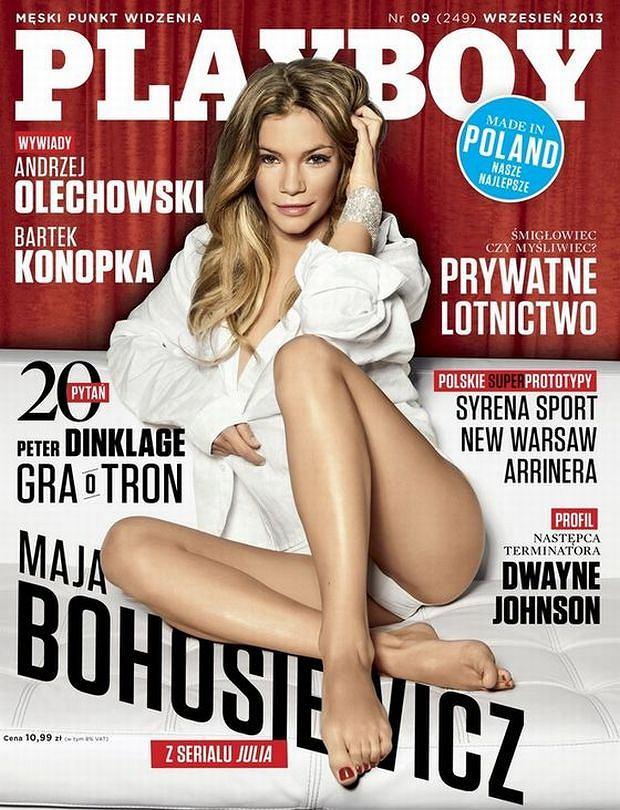 Maja Bohosiewicz, okładka, playboy