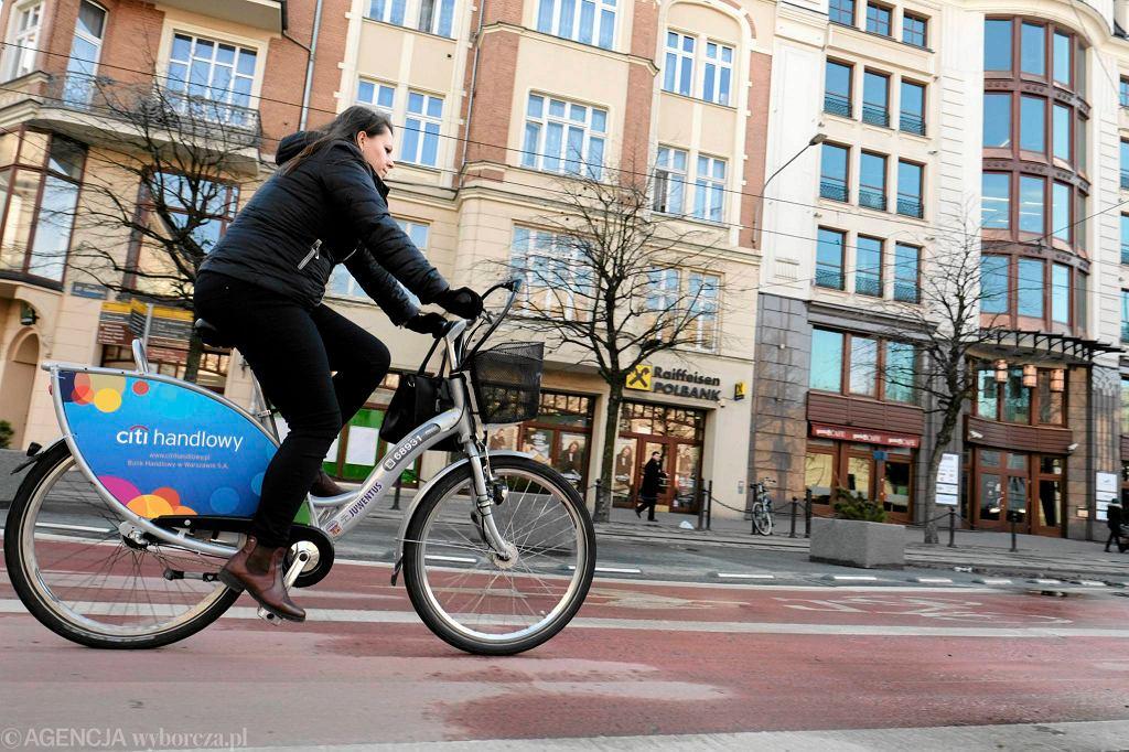 Rower miejski w centrum Poznania