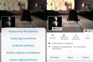 Wideo zamiast zdjęcia profilowego na Facebooku właśnie powoli trafia do polskich użytkowników