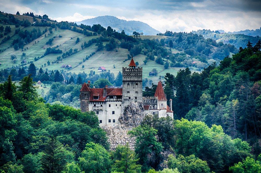 Rumunia, zamek w Branie