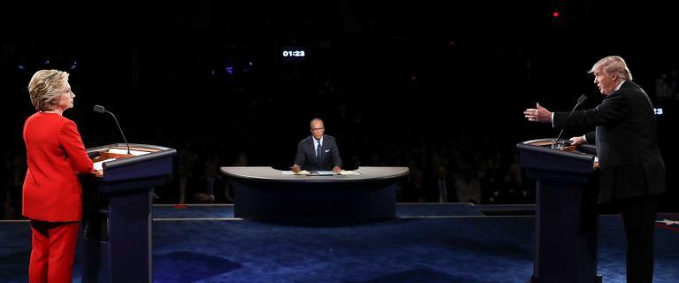 WYBORY W USA. Pierwsza debata Clinton - Trump. Co wa�nego us�yszeli�my o Polsce? To zabrzmia�o wyj�tkowo z�owrogo