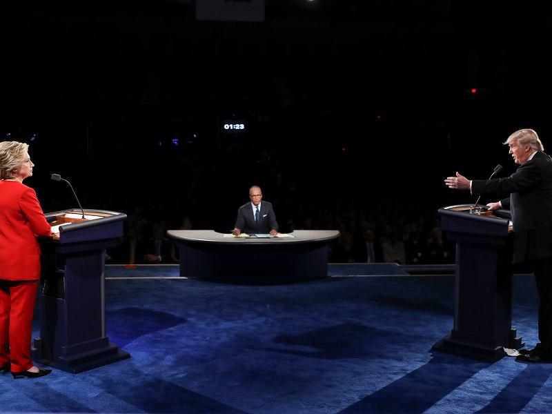 WYBORY W USA. Pierwsza debata Clinton - Trump. Co ważnego usłyszeliśmy o Polsce? To zabrzmiało wyjątkowo złowrogo
