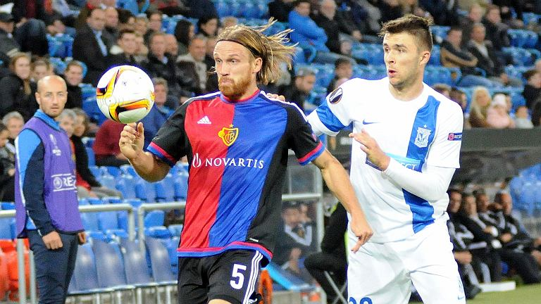 FC Basel - Lech Poznań 2:0. Dariusz Formella i Michael Lang
