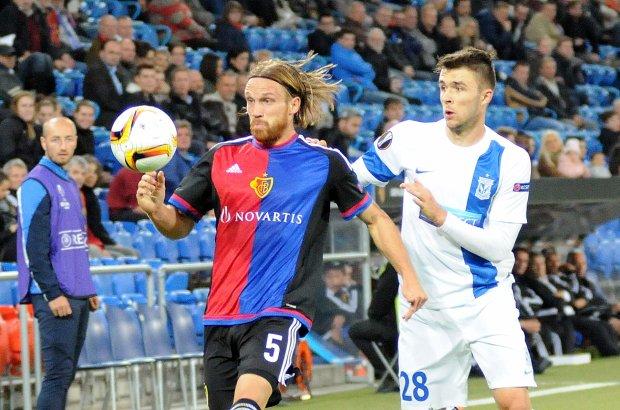 FC Basel - Lech Pozna� 2:0. Dariusz Formella i Michael Lang