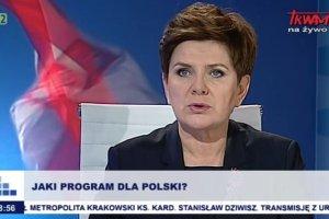 Beata Szydło w Telewizji Trwam. Dzwonią słuchacze: Jak PiS wygra, wrócę z Niemiec do kraju