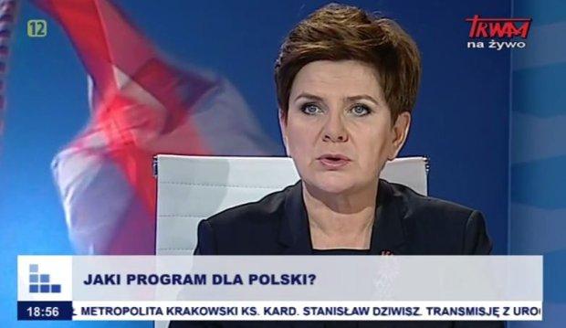 Beata Szyd�o w Telewizji Trwam. Dzwoni� s�uchacze: Jak PiS wygra, wr�c� z Niemiec do kraju