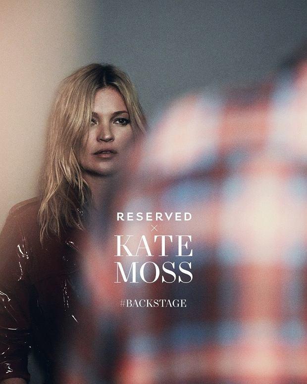 Kate Moss na planie kampanii Reserved