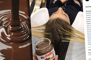 Czy do profesjonalnego farbowania włosów wystarczy... Nutella? Ten fryzjer udowadnia, że TAK [WIDEO]