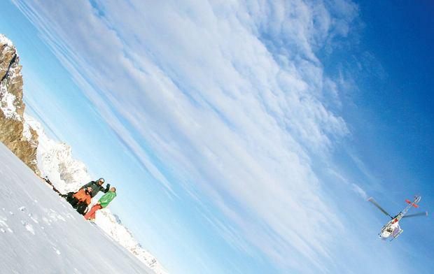 Mój pierwszy raz: heliskiing na szczytach Alp, narty, mój pierwszy raz, heliskiing