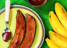 Banany pieczone w sosie karmelowym - ugotuj