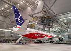 LOT-owski biało-czerwony dreamliner w fabryce Boeinga w Everett