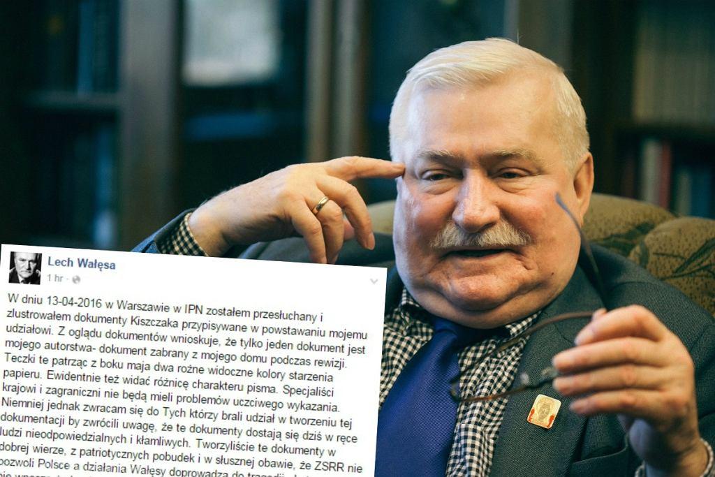 Wałęsa o swojej wizycie w IPN