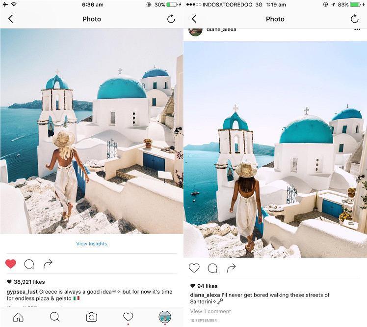 Ktoś jeździł za podróżującą parą blogerów i wrzucał na swój profil w serwisie Instagram niemal identyczne zdjęcia