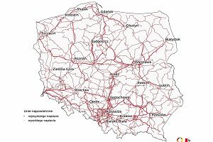 Poznaj zaskakującą infrastrukturę Polski. Mapy linii wysokiego napięcia, kanałów i wałów przeciwpowodziowych
