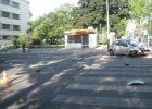 Wypadek na Sienkiewicza. Radiowóz uderzył w budynek