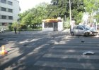 Wypadek na Sienkiewicza. Radiow�z uderzy� w budynek