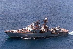 Rosyjski niszczyciel i kr��ownik p�yn� na Morze �r�dziemne