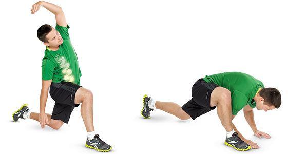 ćwiczenia, Ćwiczenia: rozgrzewka idealna, Dynamiczne wykroki