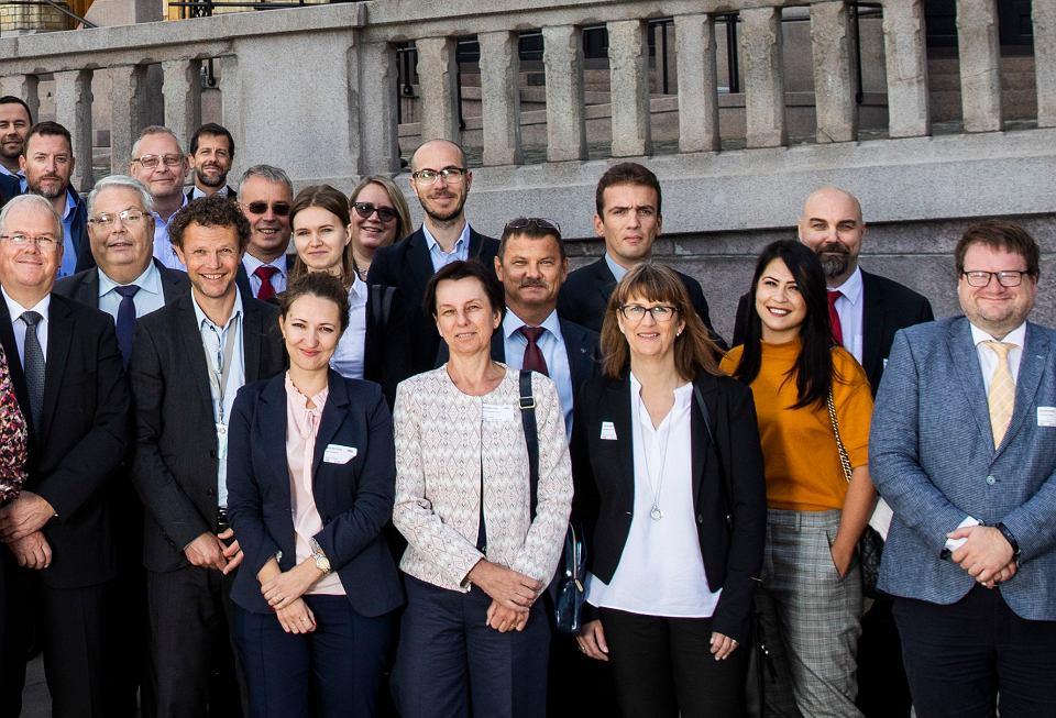 Michaił Boczkariow (z wąsem, na zdjęciu w środku) na konferencji ECPRD 2018, Oslo, 20 września. Pięć dni później został aresztowany przez norweskie służby pod zarzutem szpiegostwa.