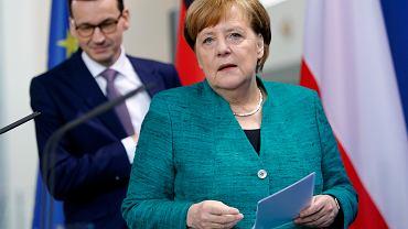 16.02.2018, Berlin, spotkanie Angeli Merkel z Mateuszem Morawieckim.