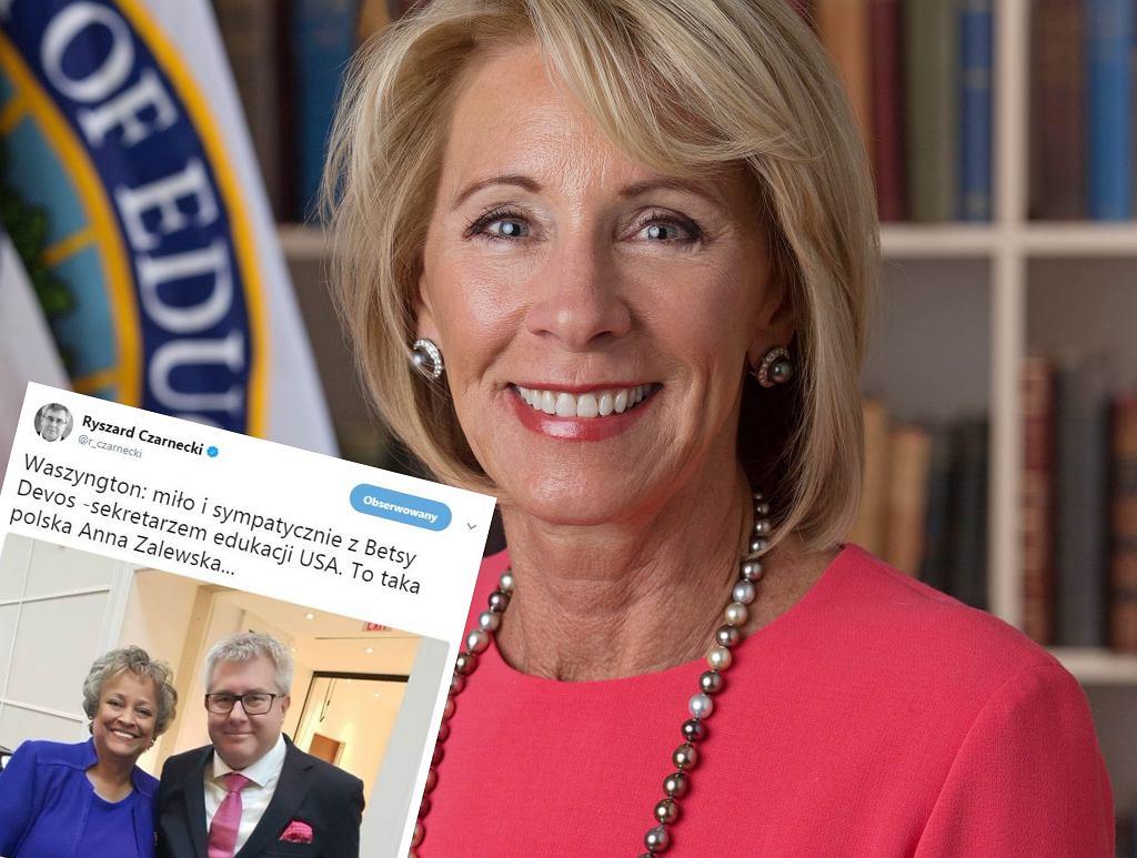 Betsy DeVos i tweet Ryszarda Czarneckiego