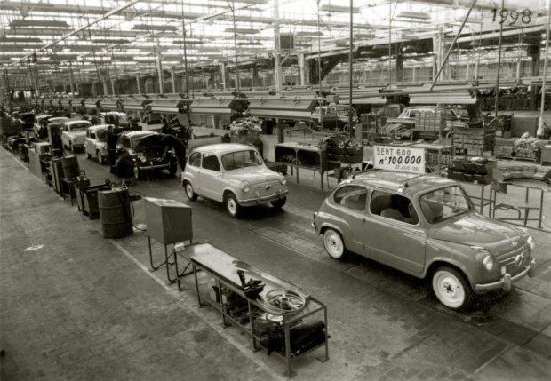 Seat 600 - linia produkcyjna (fot. Seat)
