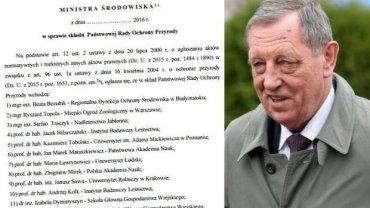 Fragment rozporządzenia, do którego dotarł reporter TOK FM/Minister Środowiska Jan Szyszko