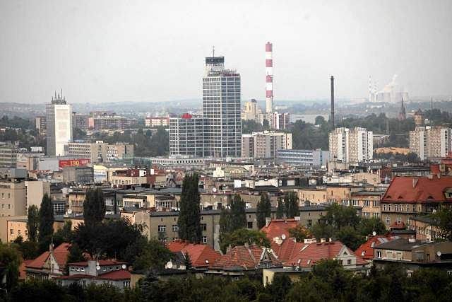 Panorama śródmieścia Katowic