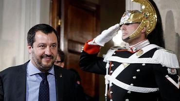 Matteo Salvini, lider Ligi - włoskiej partii prawicowej, która ma tworzyć nowy włoski rząd
