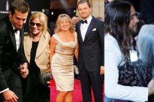 Bradley Cooper, Leonardo DiCaprio i Jared Leto z mamami