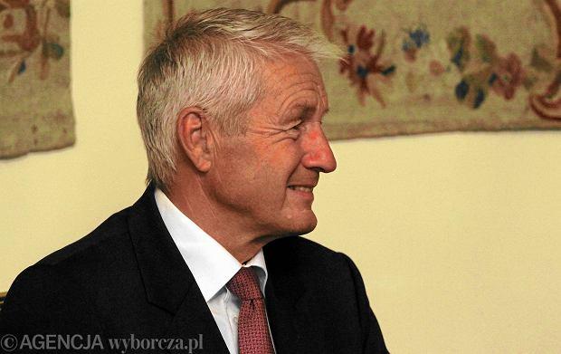 Thorbjoern Jagland podczas spotkania z Bronisławem Komorowskim w 2013 r.