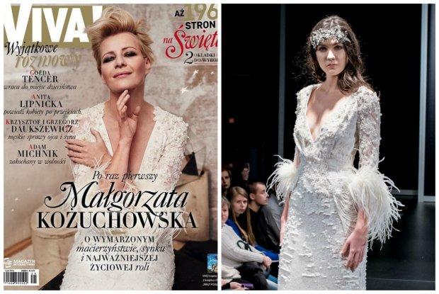 Ma�gorzata Ko�uchowska wyst�pi�a na ok�adce w sukni �lubnej Paprocki & Brzozowski. Zobacz ca�� kolekcj� �lubn� duetu [ZDJ�CIA]