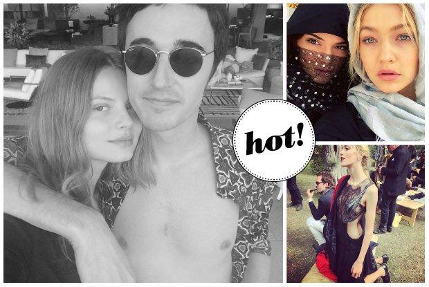 Magdalena Fr�ckowiak sp�dzi�a sylwestra z ukochanym Daniele Cavallim, a Kendall Jenner bawi�a si� z innymi modelkami w Dubaju [INSTAGRAM]