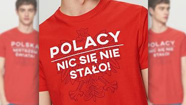 Dwustronny t-shirt od Reserved, którym można wyrażać smutek i radość.