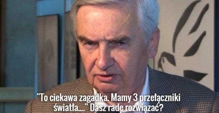 Tadeusz Sznuk zadaje zagadkę