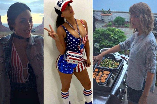 Jak kraj długi i szeroki, mieszkańcy Stanów Zjednoczonych świętowali Dzień Niepodległości. W weekend 4-5 lipca większość bawiła się z rodziną i znajomymi przy grillu, a wieczorem oglądała fajerwerki. Okazuje się, że celebryci zrobili podobnie.