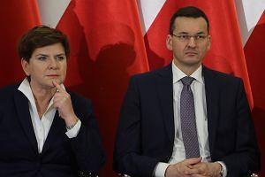 Premier Beata Szydło i wicepremier Mateusz Morawiecki